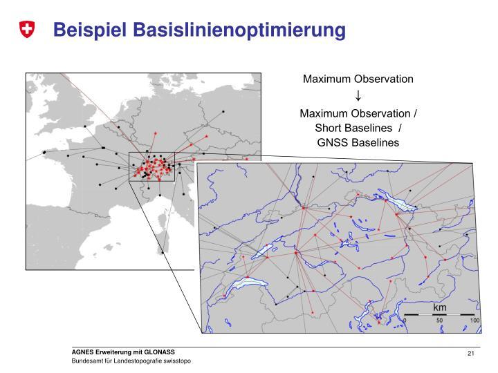 Beispiel Basislinienoptimierung