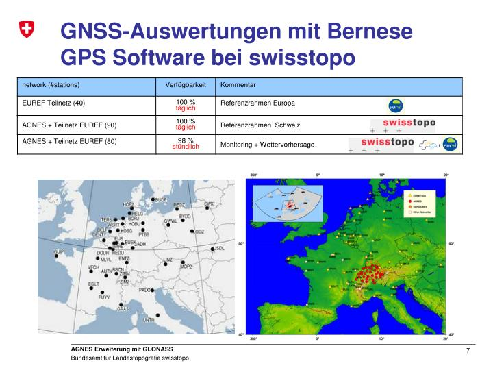 GNSS-Auswertungen mit Bernese GPS Software bei swisstopo