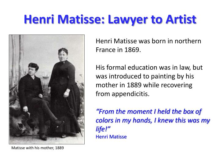 Henri matisse lawyer to artist