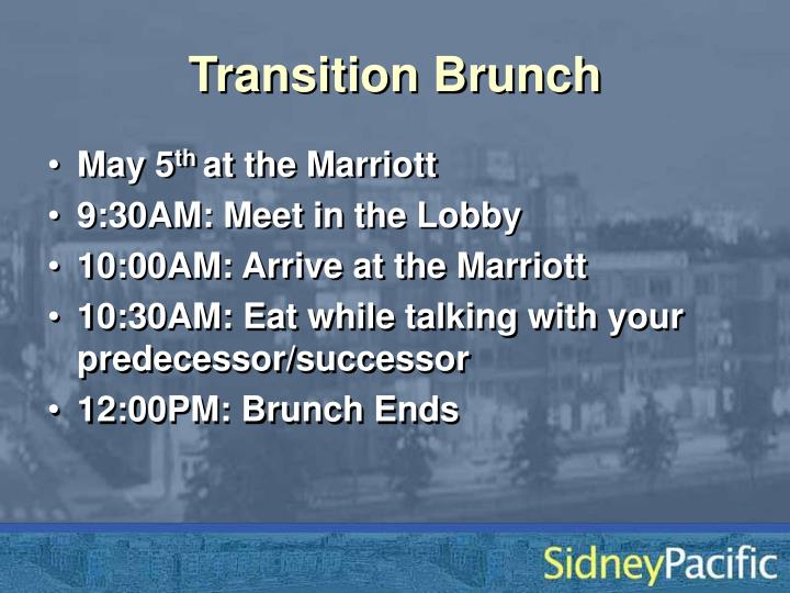 Transition Brunch