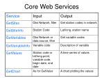 core web services