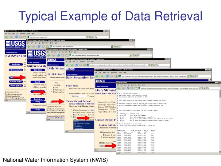 Typical Example of Data Retrieval