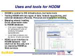 uses and tools for hodm