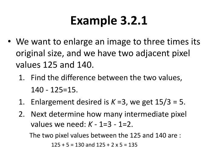 Example 3.2.1