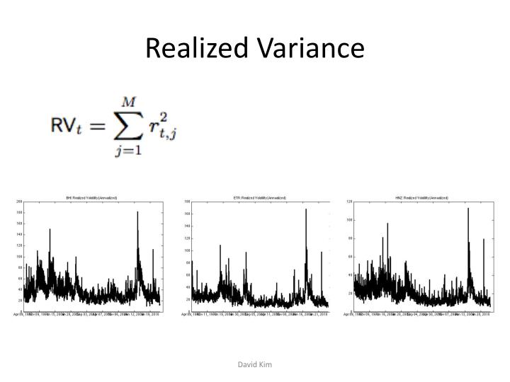 Realized variance
