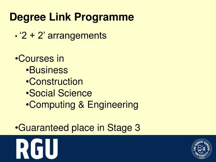 Degree Link Programme
