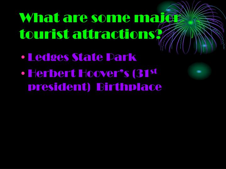 What are some major tourist attractions?