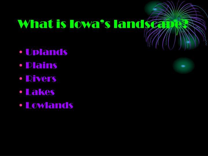 What is Iowa's landscape?