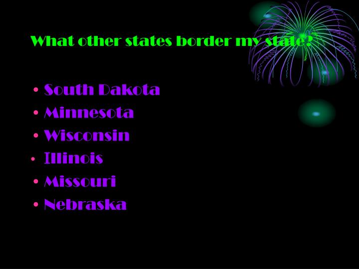 What other states border my state