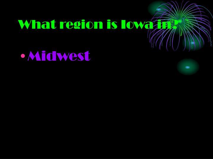 What region is Iowa in?