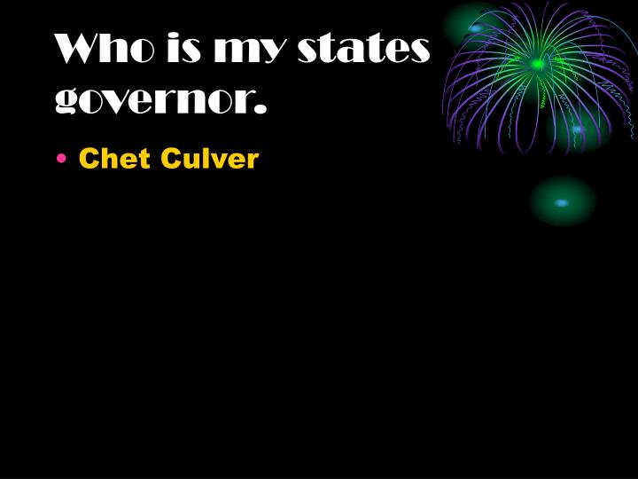 Who is my states governor.
