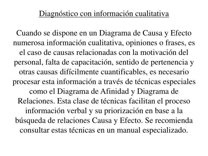 Diagnstico con informacin cualitativa