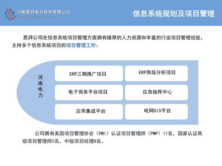 信息系统规划及项目管理