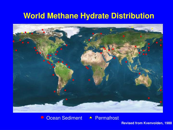 World Methane Hydrate Distribution