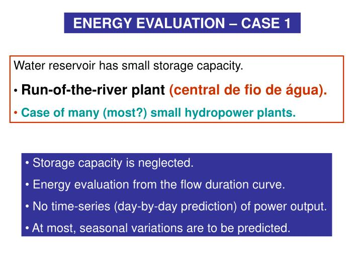 ENERGY EVALUATION – CASE 1