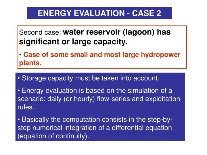 ENERGY EVALUATION - CASE 2