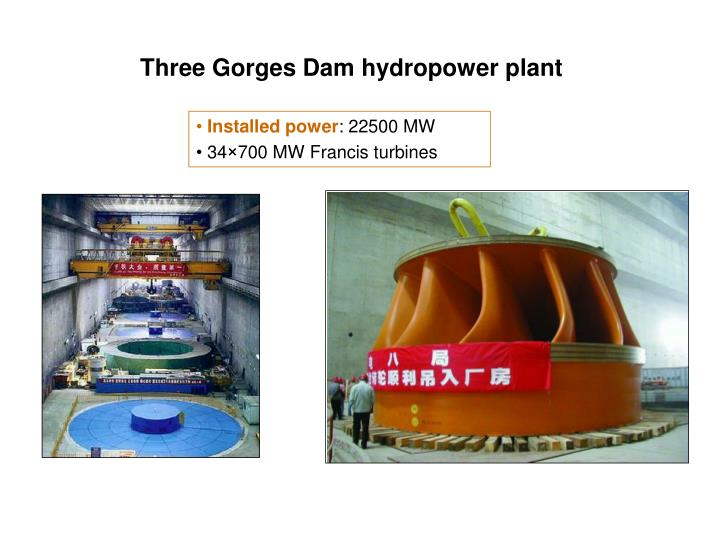Three Gorges Dam hydropower plant