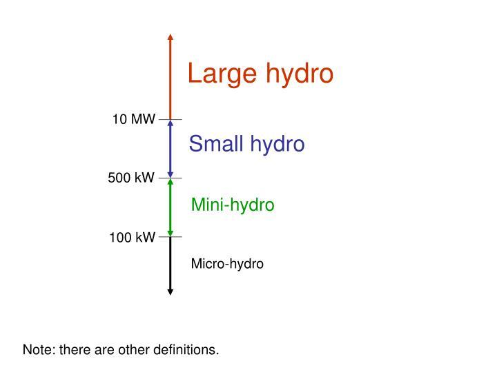 Large hydro