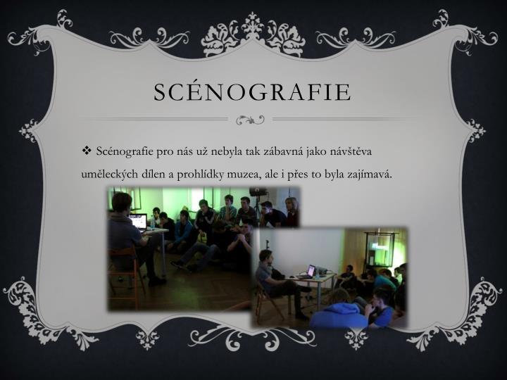Scénografie