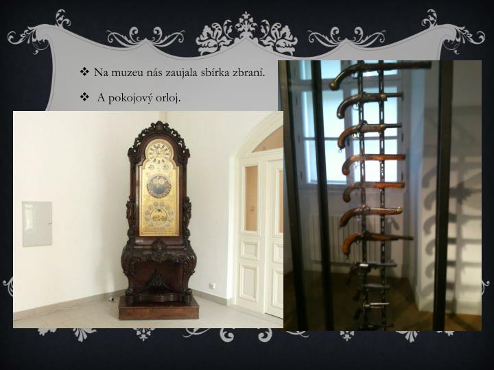 Na muzeu nás zaujala sbírka zbraní.