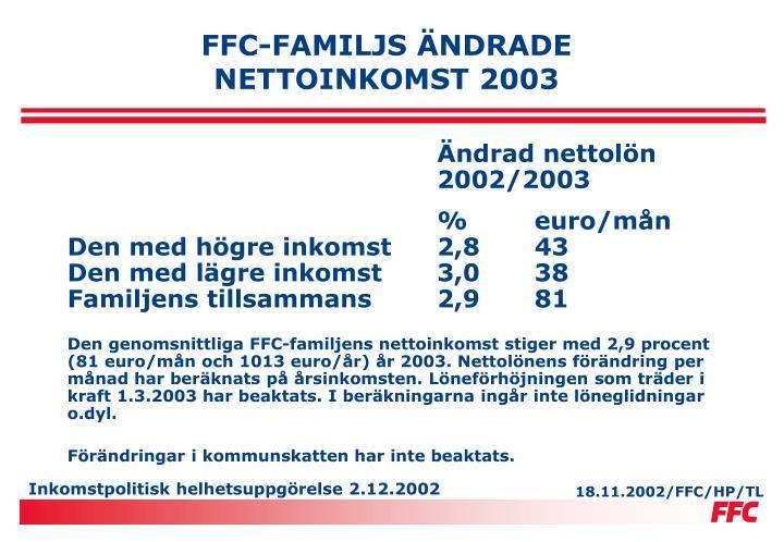 FFC-FAMILJS ÄNDRADE