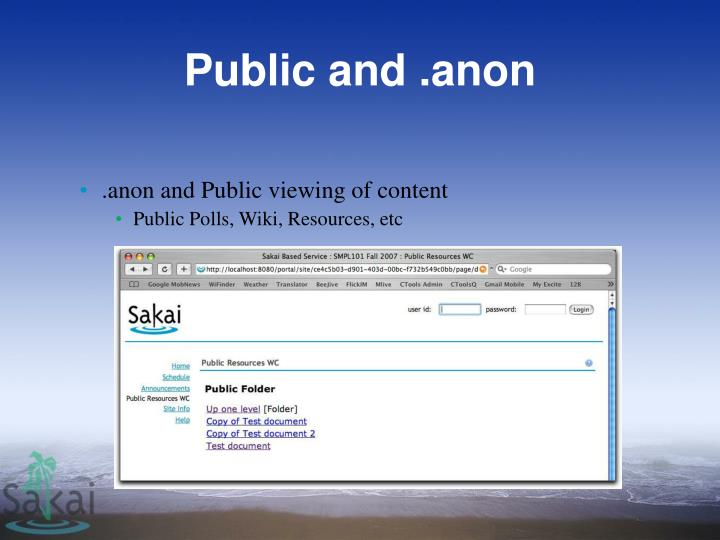 Public and .anon