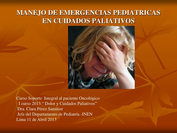 MANEJO DE EMERGENCIAS PEDIATRICAS