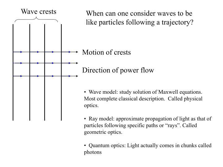 Wave crests