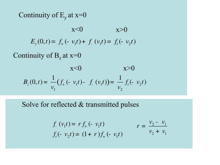 Continuity of E