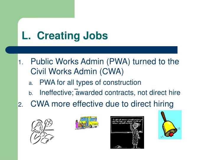 L.  Creating Jobs