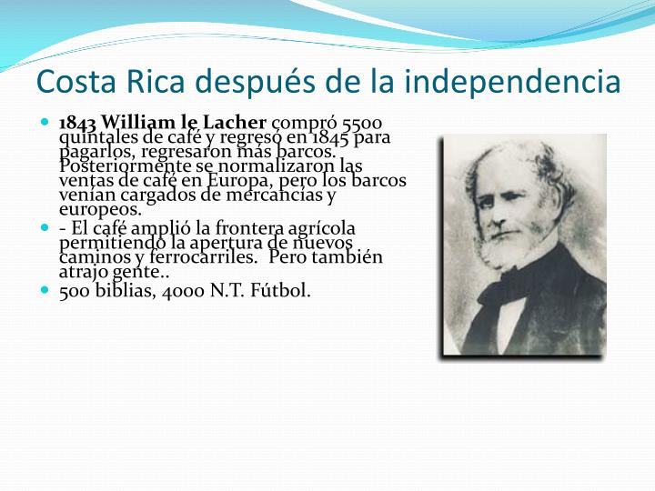 Costa Rica después de la independencia