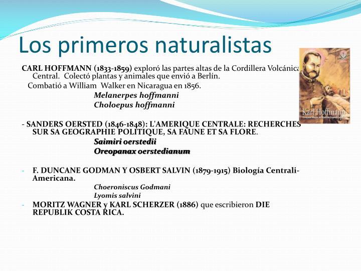Los primeros naturalistas