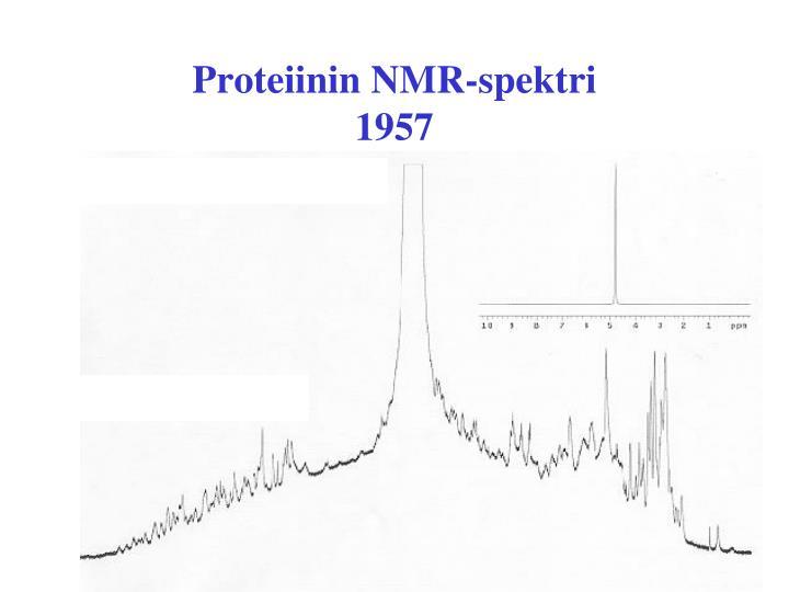 Proteiinin NMR-spektri