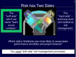 risk has two sides