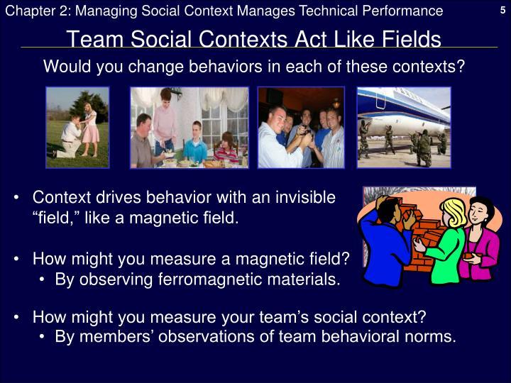 Team Social Contexts