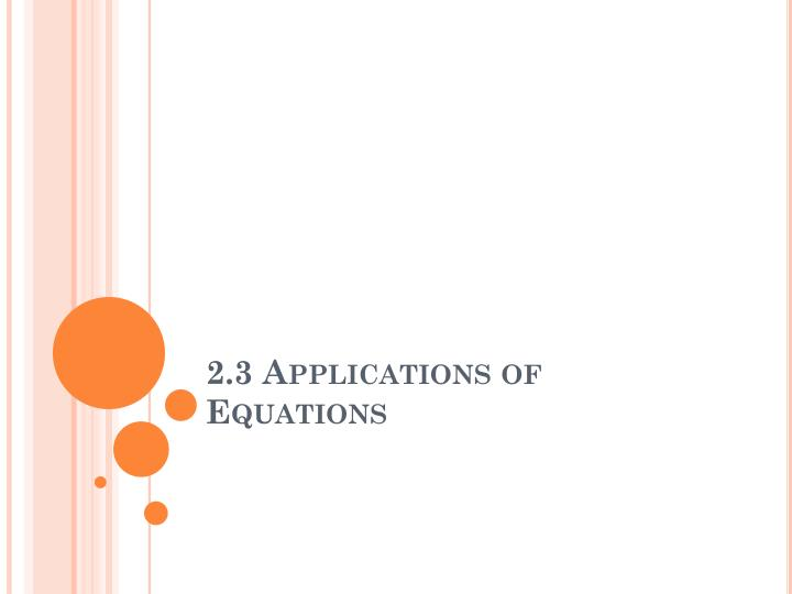 2 3 applications of equations