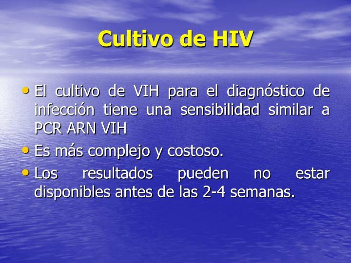 Cultivo de HIV