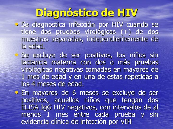 Diagnóstico de HIV