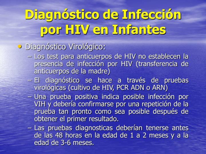 Diagnóstico de Infección por HIV en Infantes
