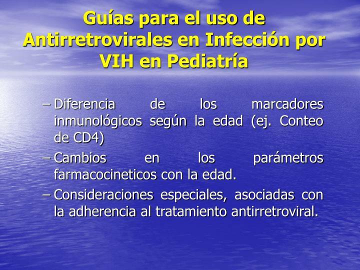 Guías para el uso de Antirretrovirales en Infección por VIH en Pediatría