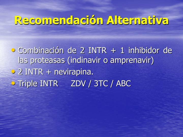 Recomendación Alternativa
