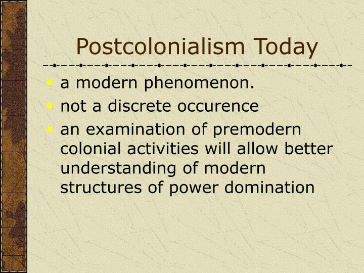 Postcolonialism Today