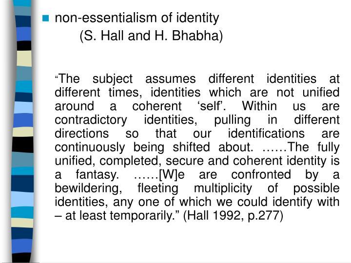 non-essentialism of identity