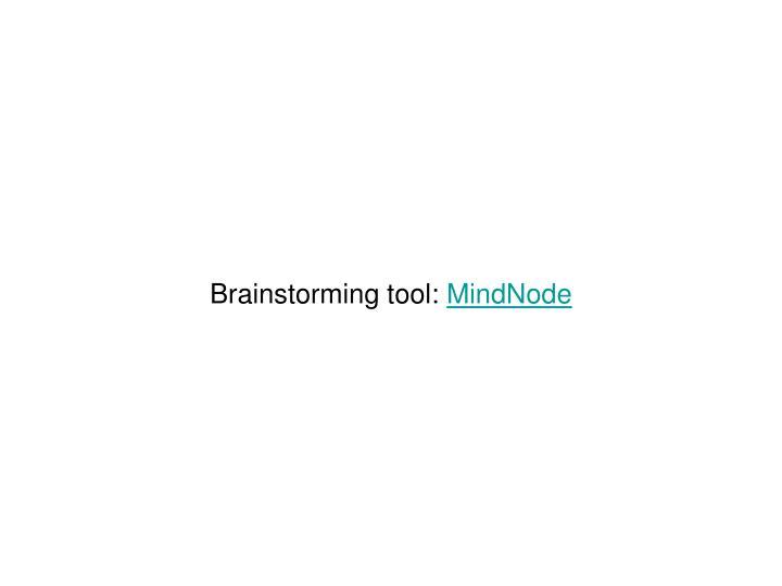 Brainstorming tool: