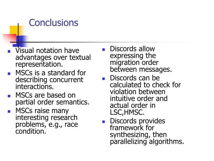 Visual notation have advantages over textual representation.