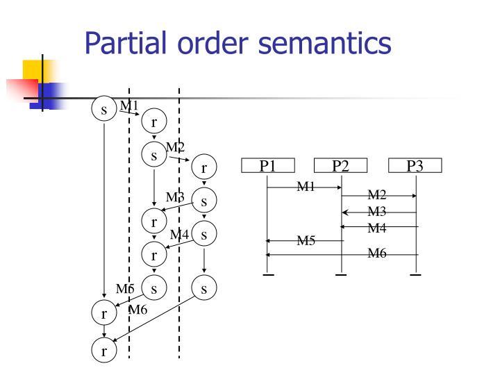 Partial order semantics