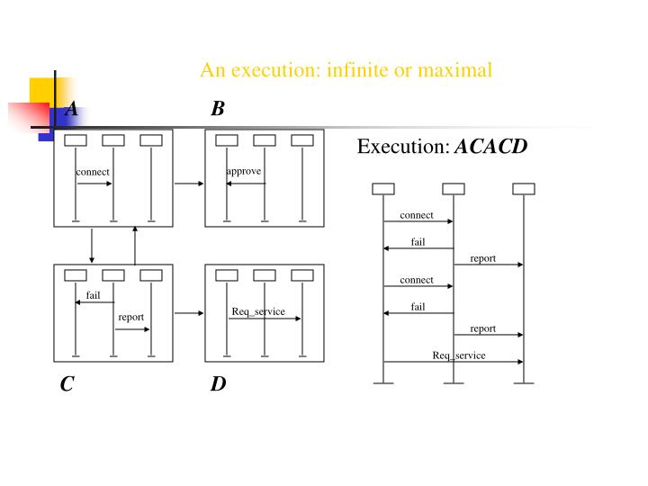 An execution: infinite or maximal