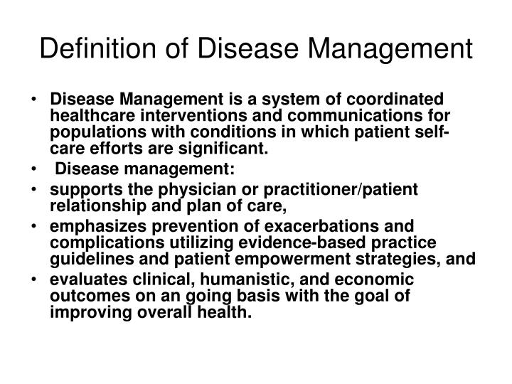 Definition of Disease Management
