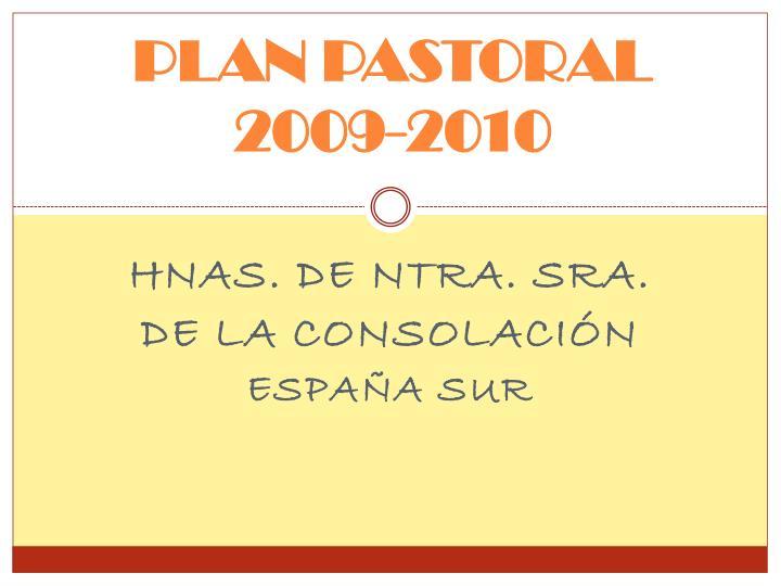 PLAN PASTORAL 2009-2010