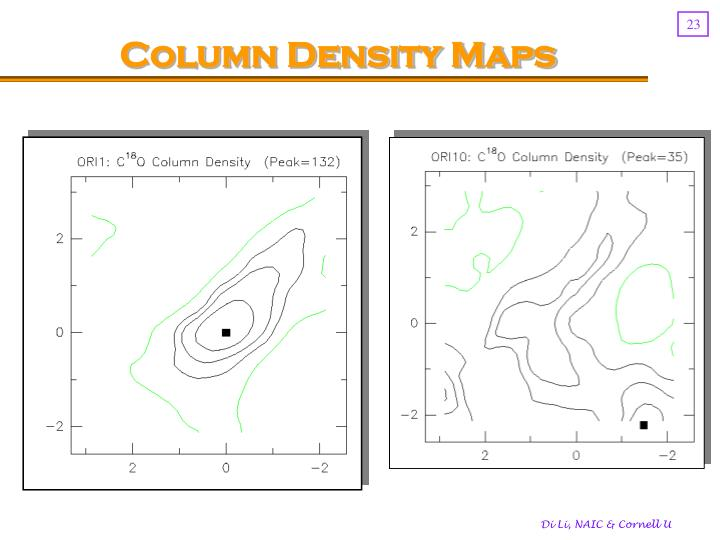 Column Density Maps